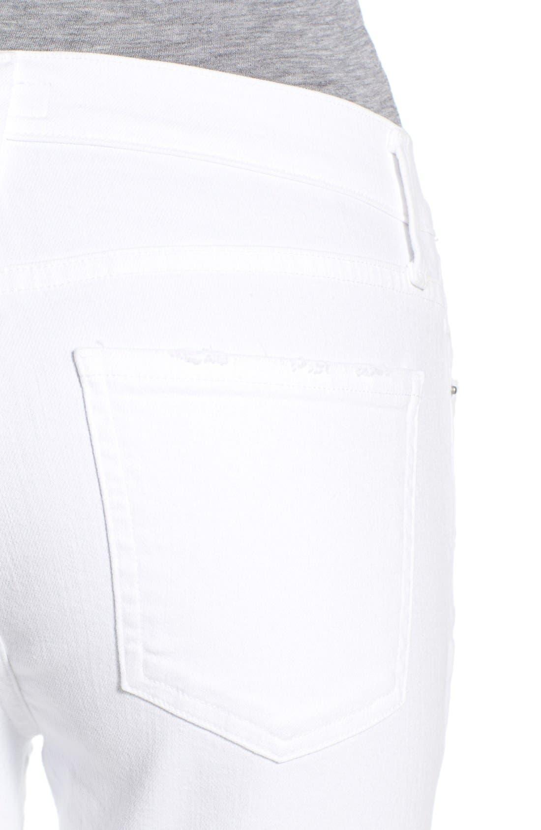 Alternate Image 4  - A Gold E 'Sophie' Distressed Crop Skinny Jeans (Off Spring)