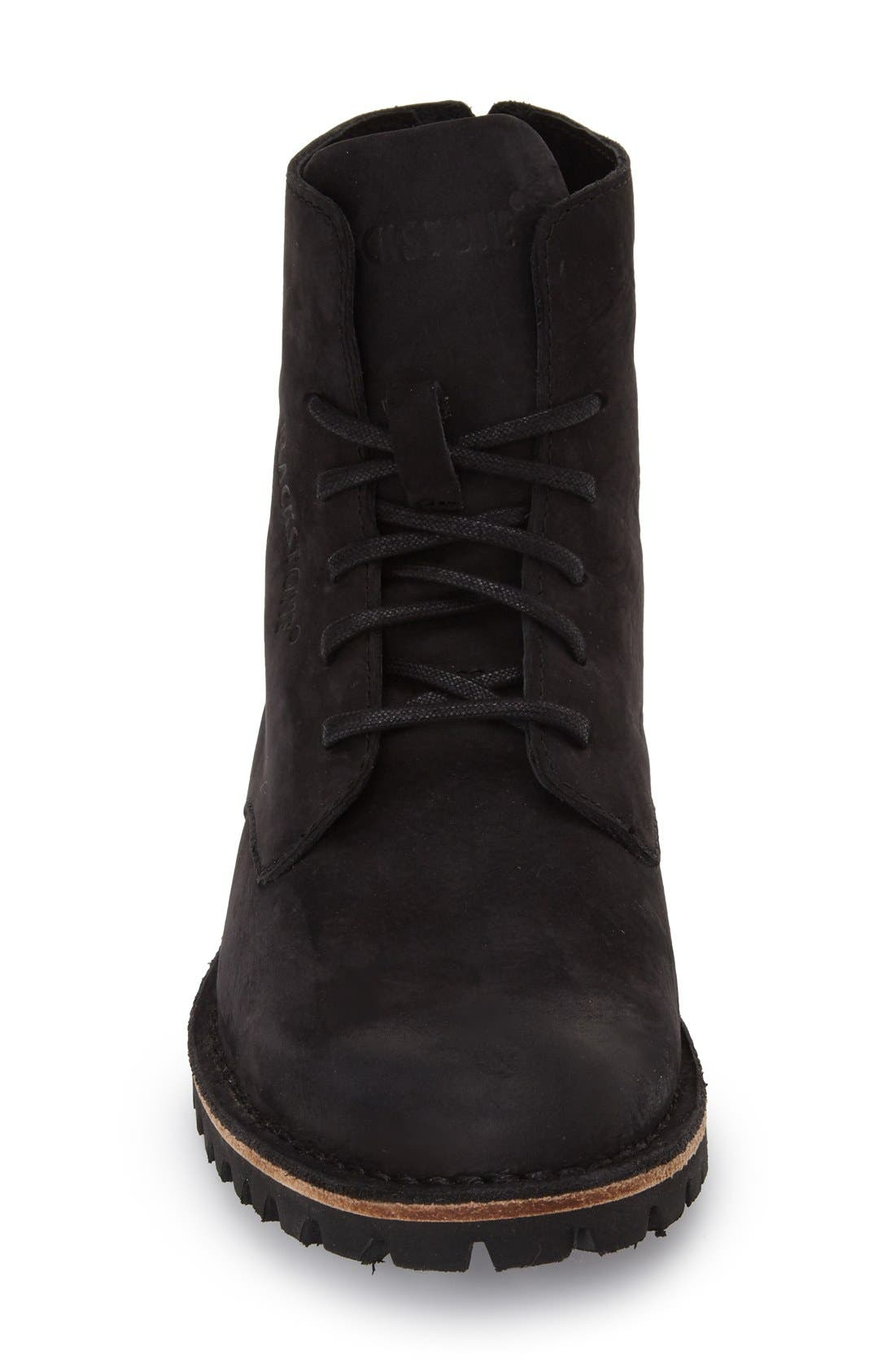 'KL67' Lace-Up Boot,                             Alternate thumbnail 3, color,                             Black Leather