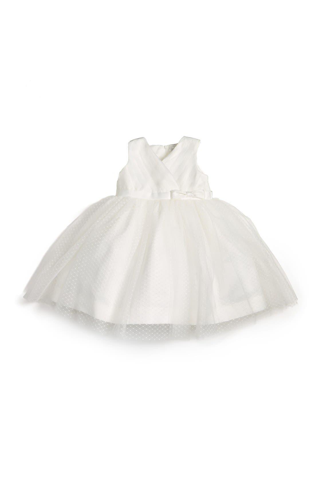 Us Angels Satin & Tulle Dress (Baby Girls)