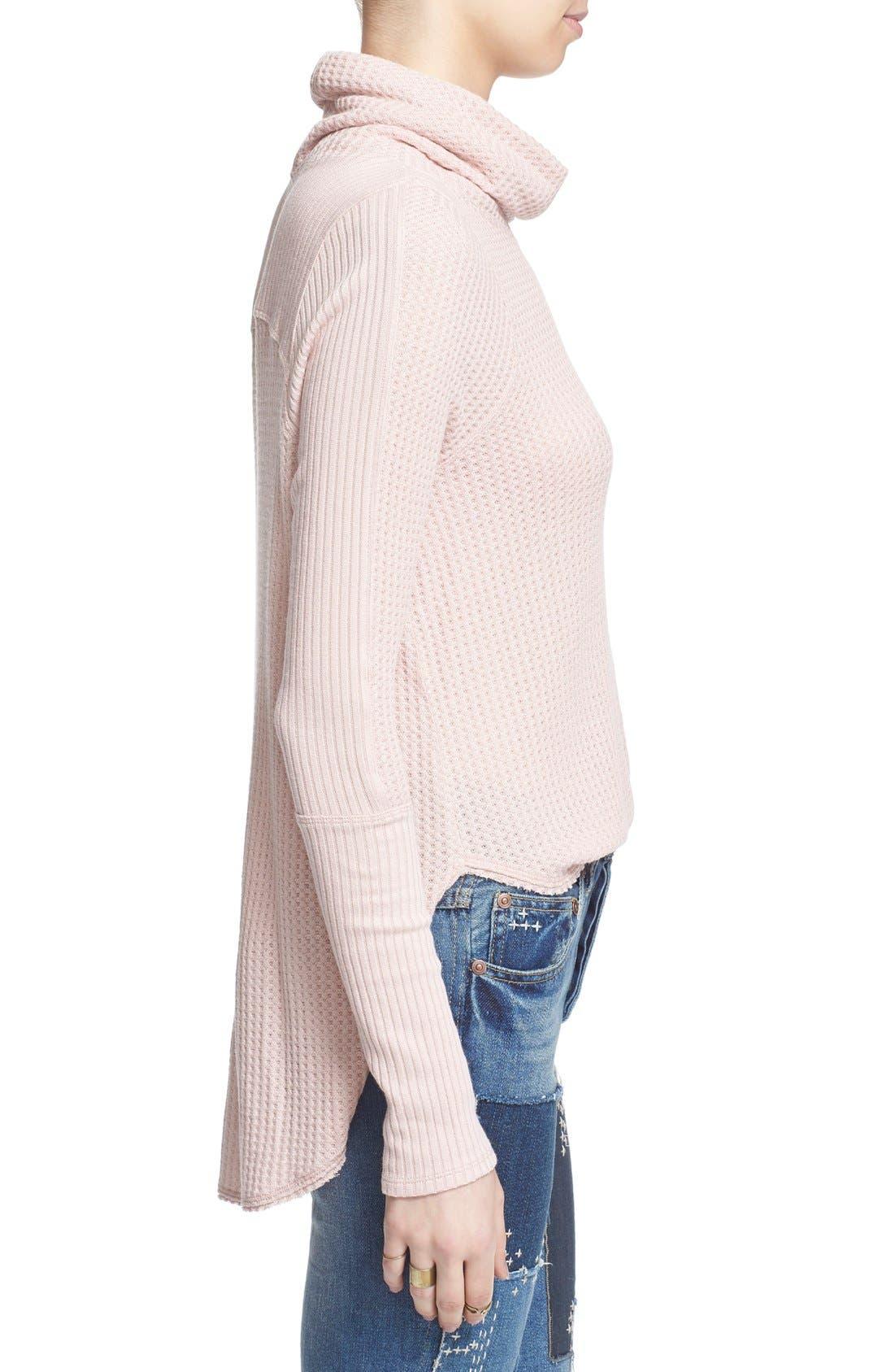 Alternate Image 3  - Free People 'Kristina' Drippy Thermal Top