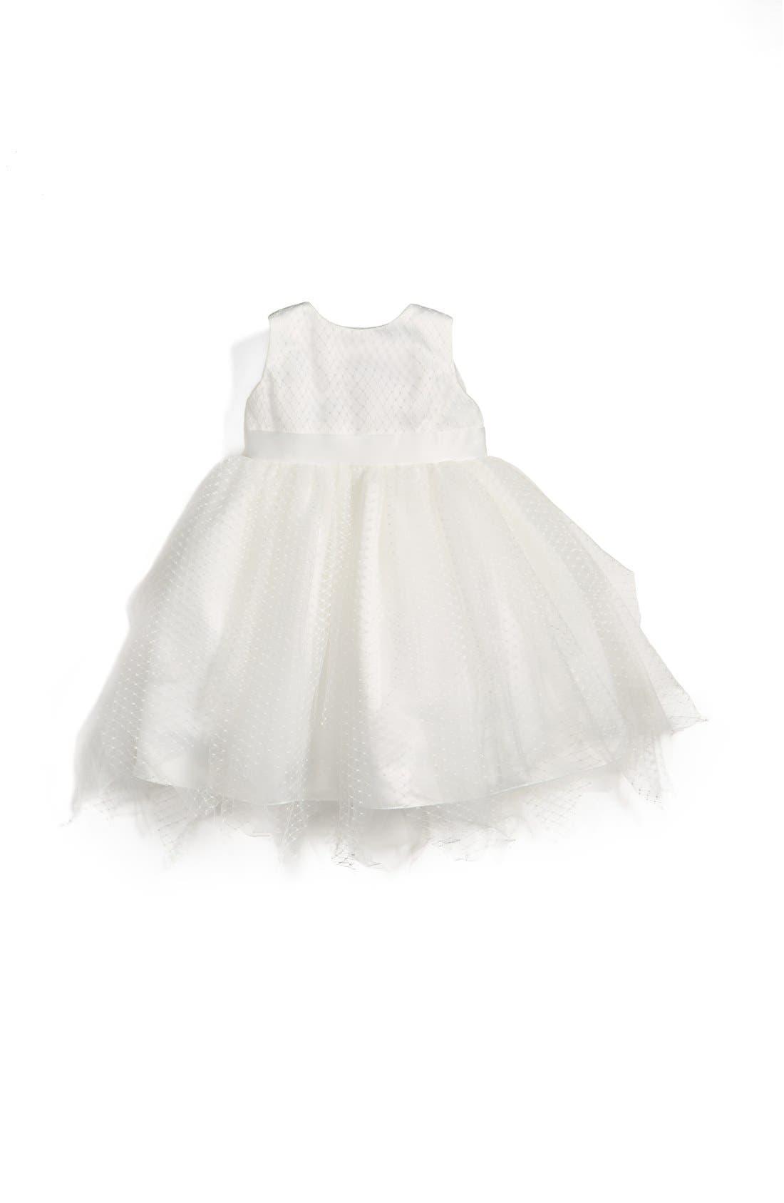 US ANGELS Tulle Overlay Sleeveless Dress