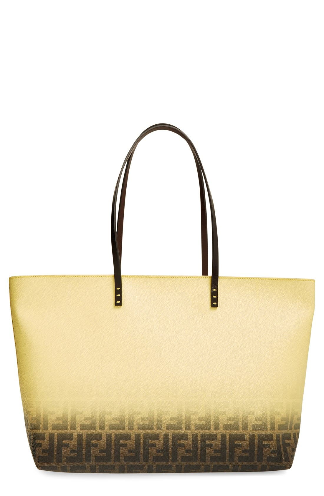 Alternate Image 1 Selected - Fendi 'Medium Roll' Ombré Tote