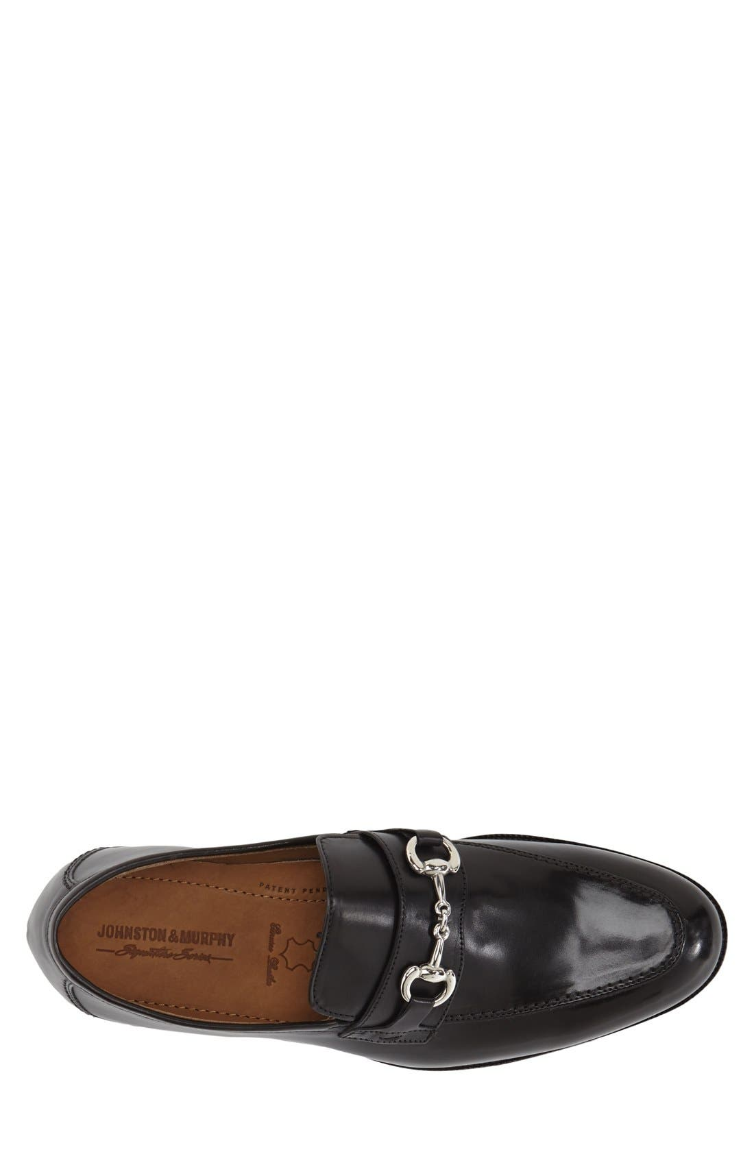 'Stratton' Bit Loafer,                             Alternate thumbnail 3, color,                             Black