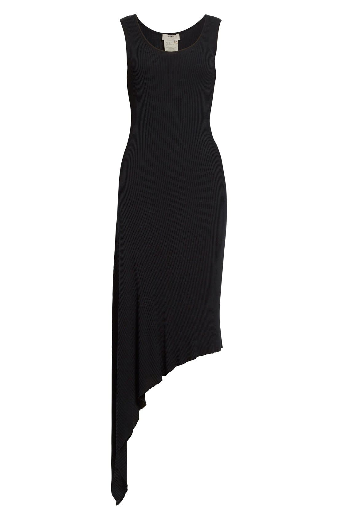 Alternate Image 4  - Fuzzi Asymmetrical Rib Knit Tank Dress