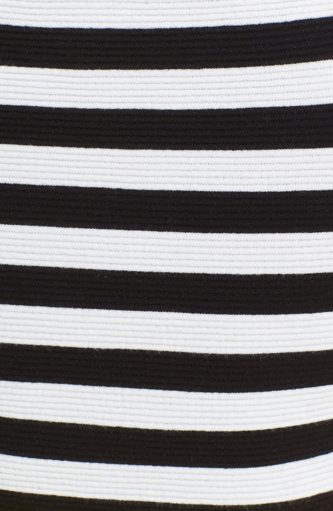 'Grant' Off the Shoulder Stripe Top,                             Alternate thumbnail 6, color,                             Black/ White