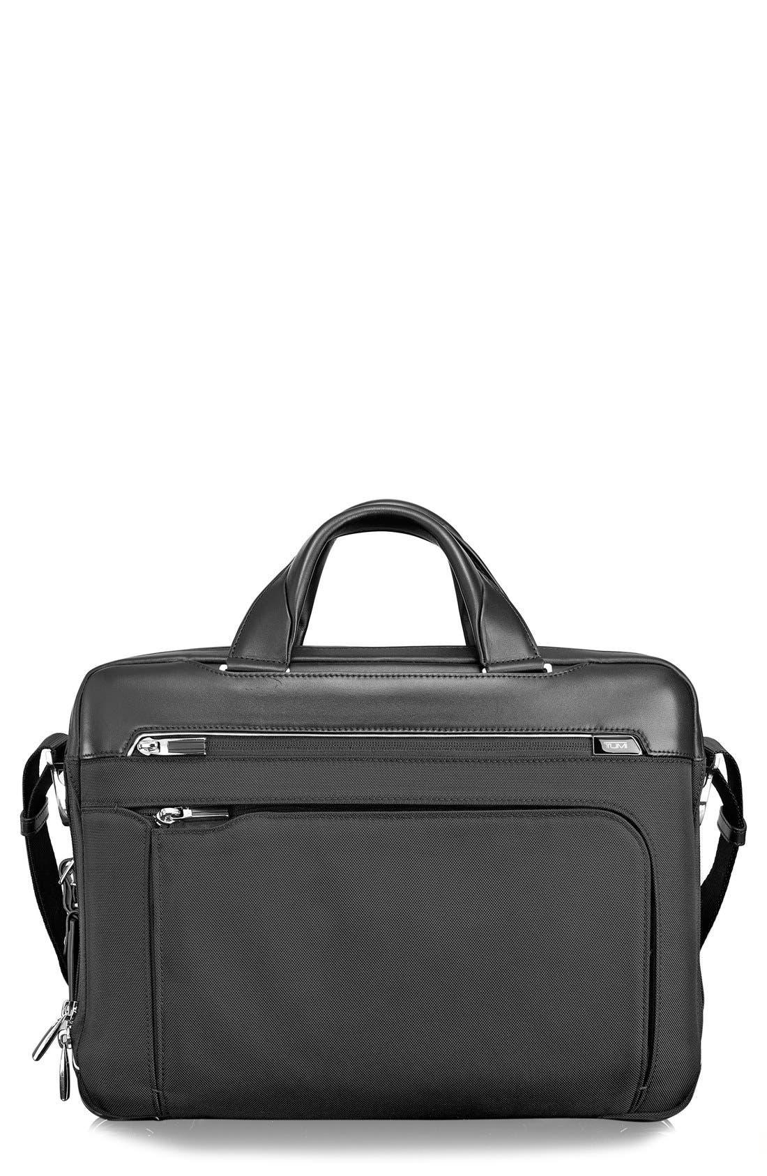 Arrivé - Sawyer Briefcase,                             Main thumbnail 1, color,                             Black