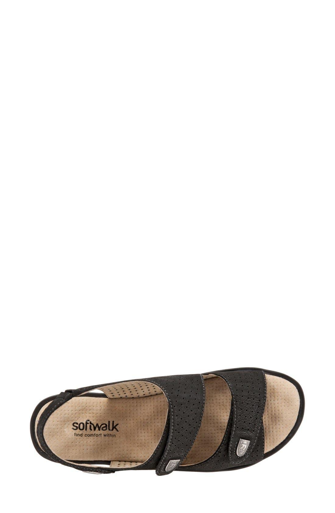 'Bolivia' Sandal,                             Alternate thumbnail 3, color,                             Black Perforated Leather
