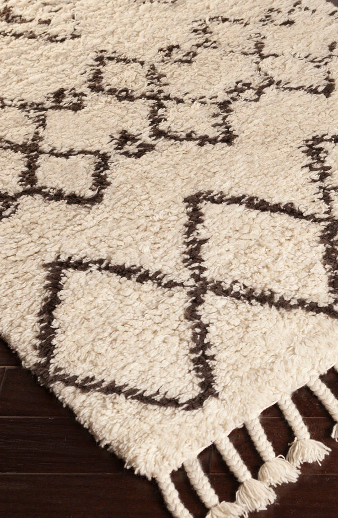 'Sherpa' Wool Rug,                             Alternate thumbnail 3, color,                             Ivory/ Taupe