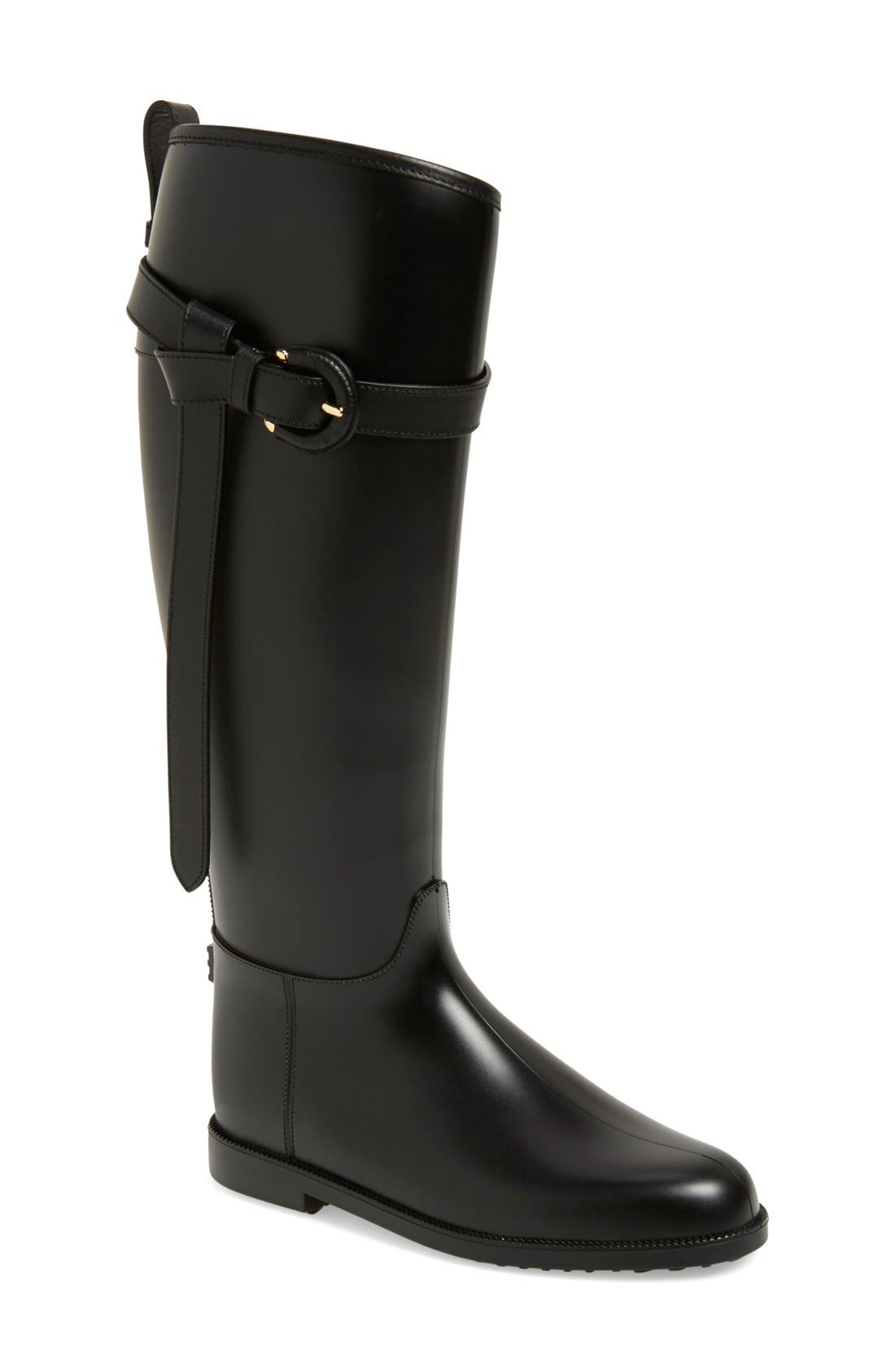 burberry black leather boots