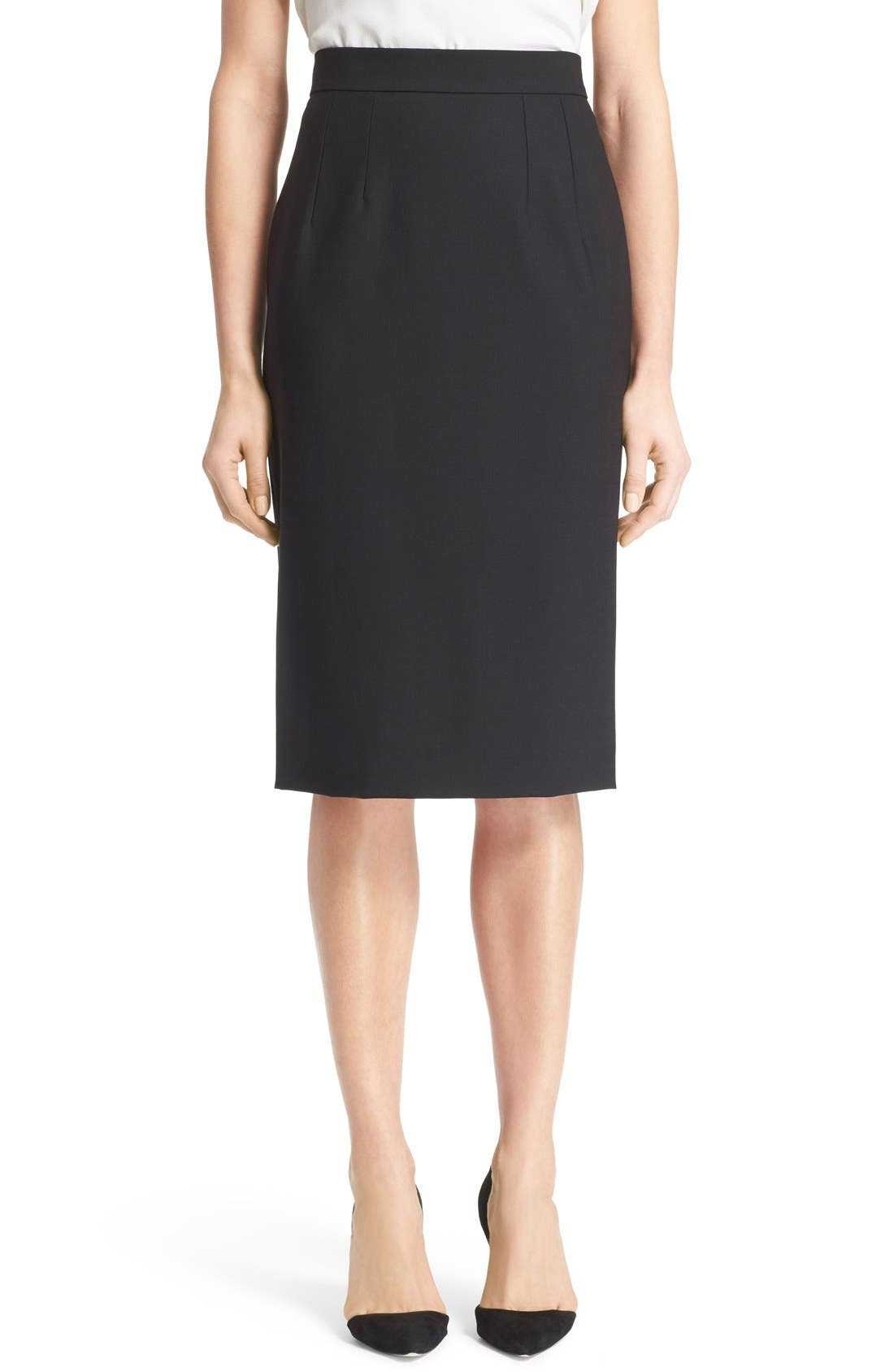 Alternate Image 1 Selected - Dolce&Gabbana Stretch Wool Pencil Skirt