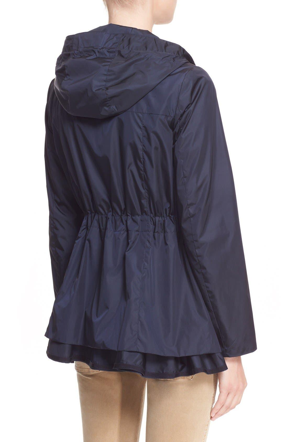 Alternate Image 2  - Moncler 'Limbert' Water Resistant Peplum Hem Hooded Rain Jacket