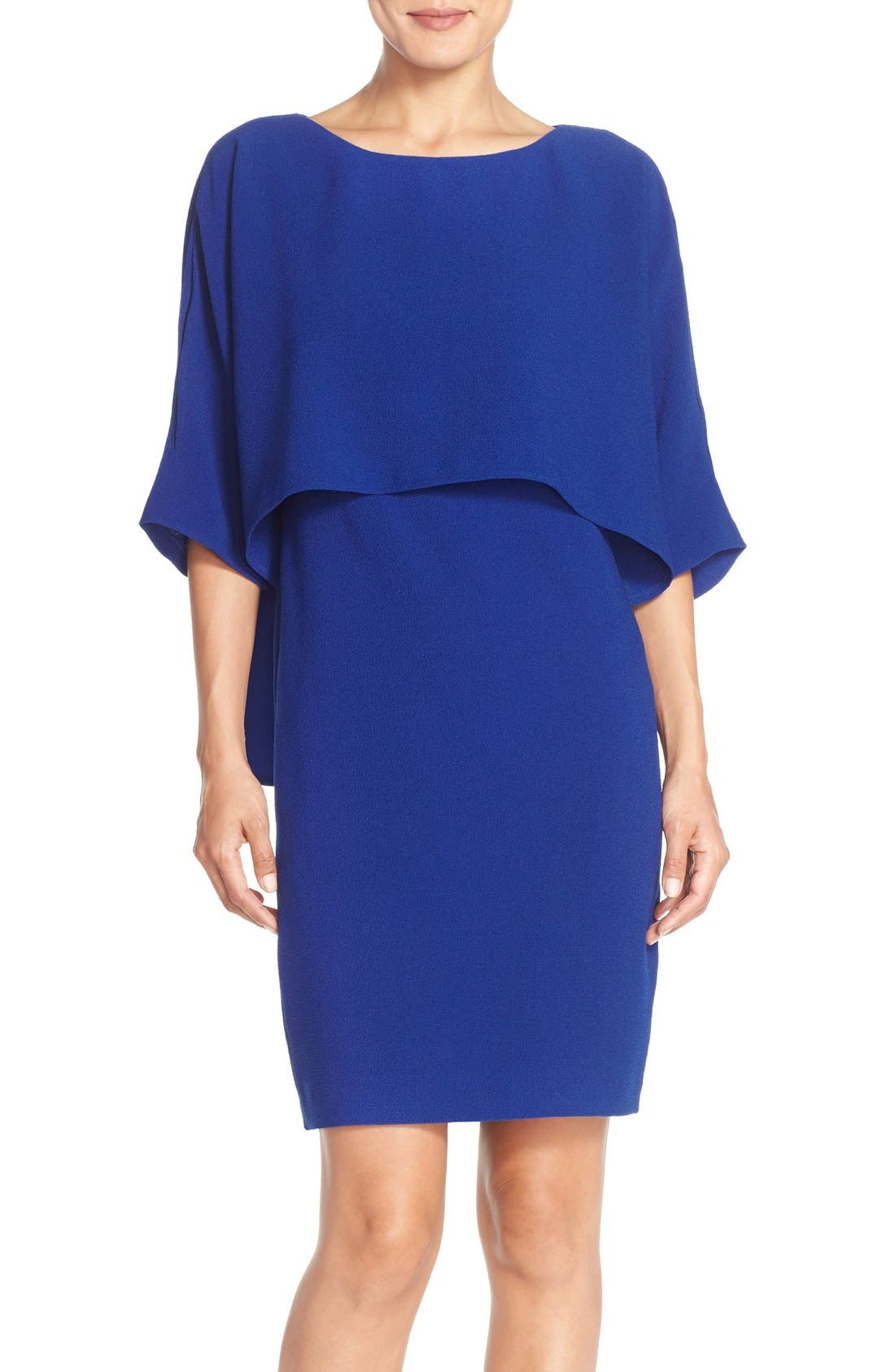 Adrianna Papell Draped Blouson Sheath Dress