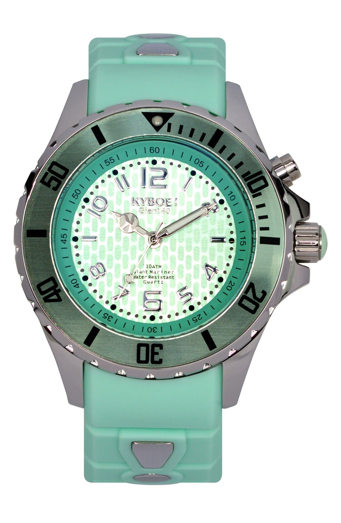KYBOE! Silicone Strap Watch, 40mm