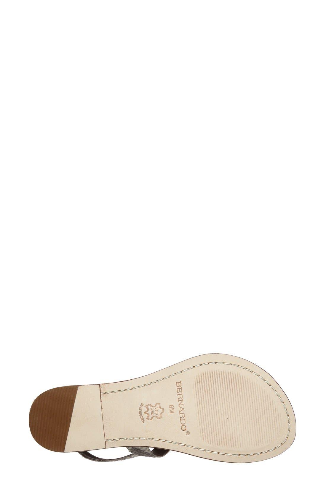 Bernardo Maverick Leather Sandal,                             Alternate thumbnail 4, color,                             Taupe Snake Print