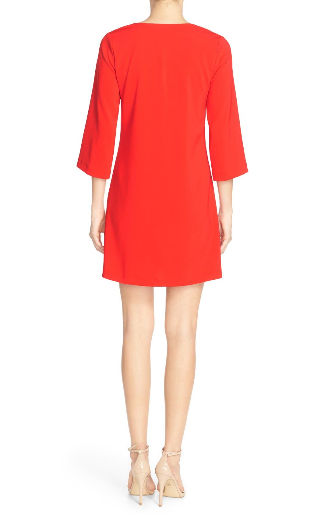 Alternate Image 2  - Amanda Uprichard Stretch Crepe A-Line Dress