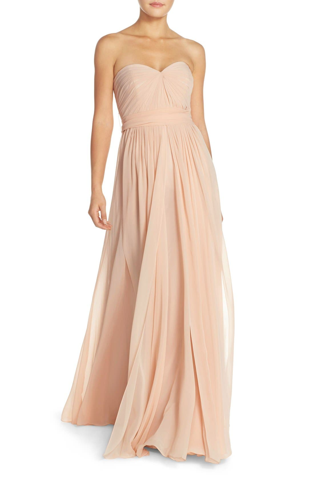Alternate Image 1 Selected - Jenny Yoo Mira Convertible Strapless Chiffon Gown