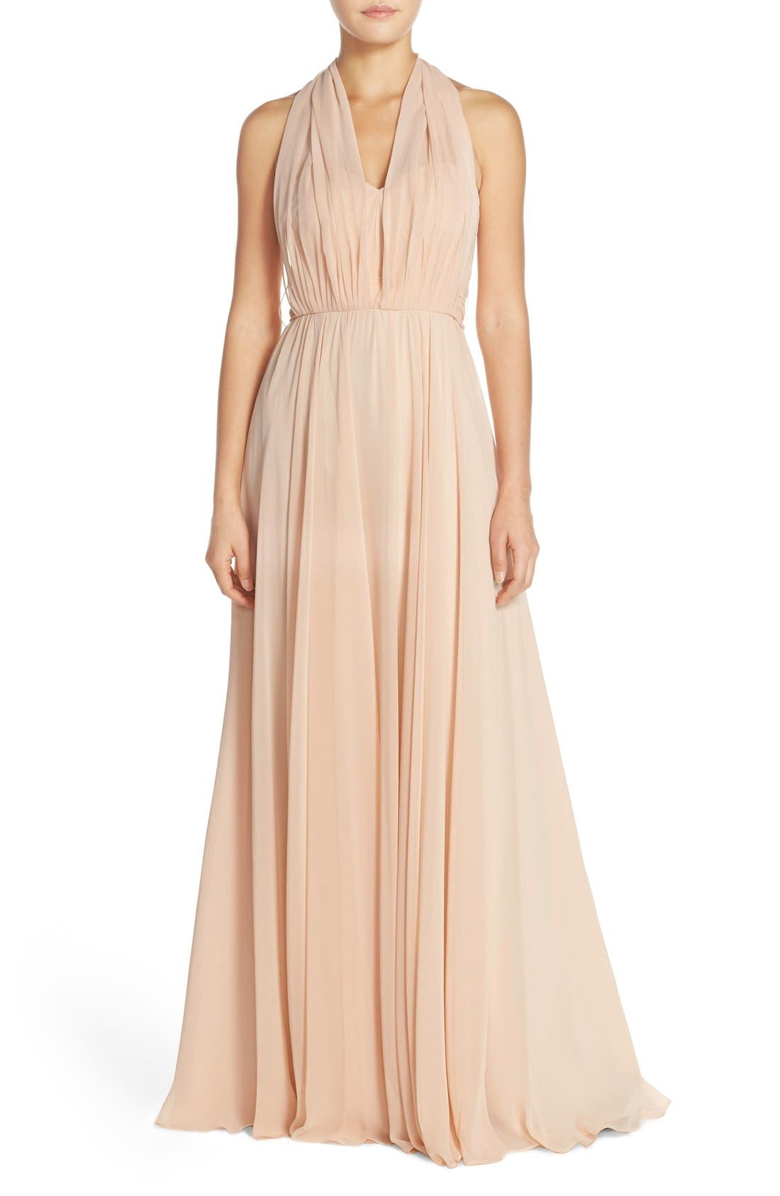 Alternate Image 2  - Jenny Yoo Mira Convertible Strapless Chiffon Gown