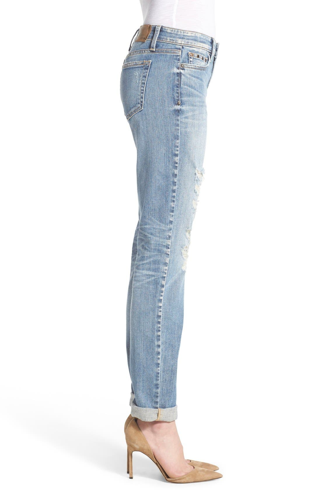'Collector's - Ex Lover' Straight Leg Jeans,                             Alternate thumbnail 4, color,                             Bev