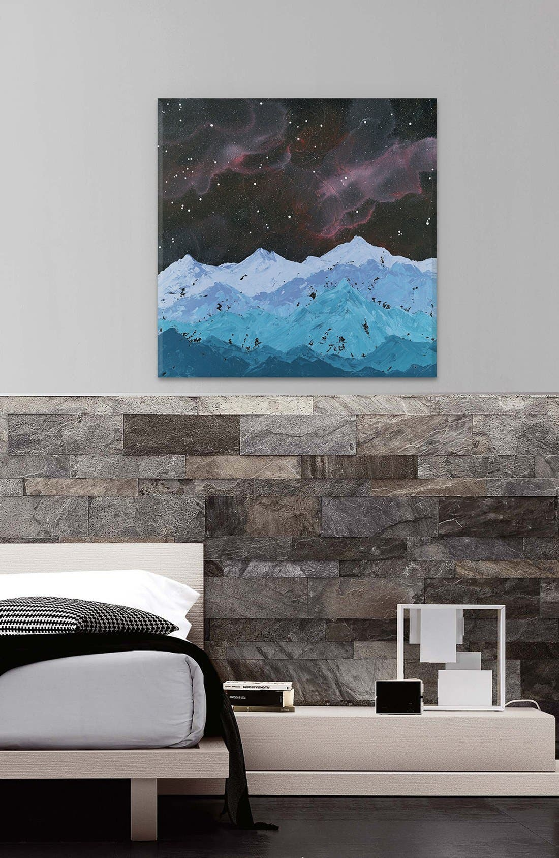 'Space Mountains' Giclée Print Canvas Art,                             Alternate thumbnail 2, color,                             Blue