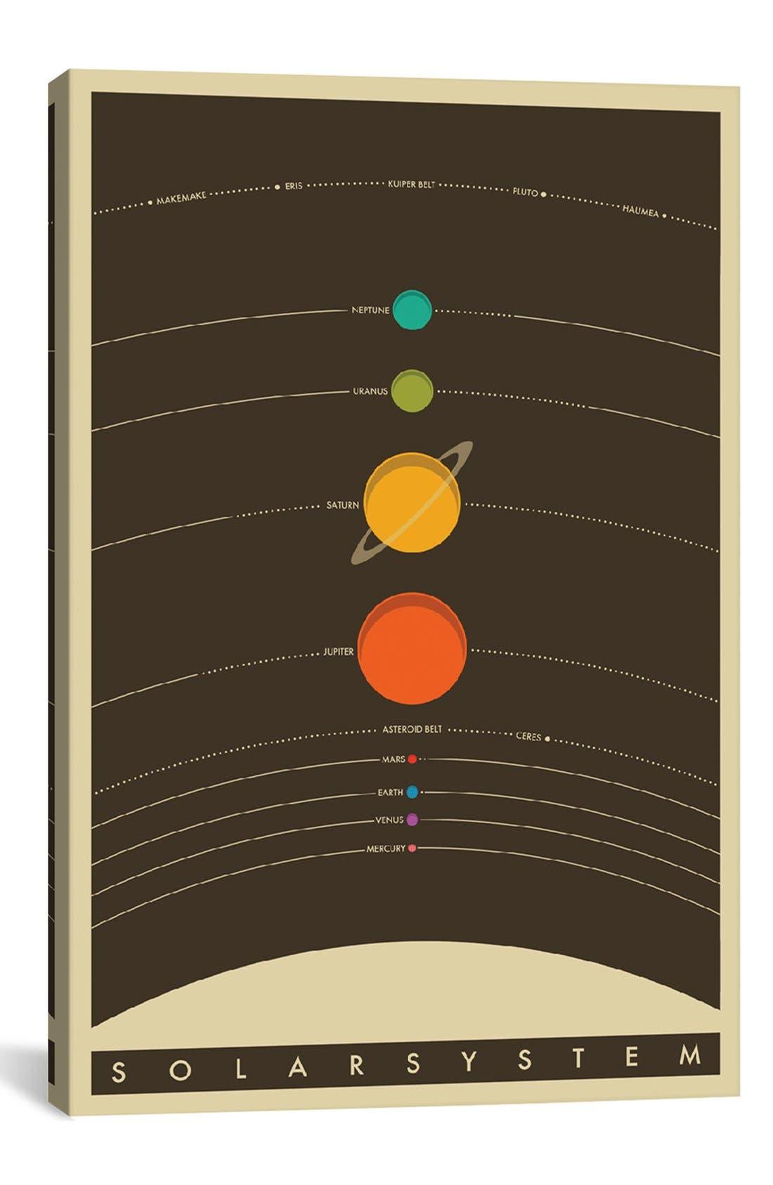 'Solar System' Giclée Print Canvas Art,                             Main thumbnail 1, color,                             Black