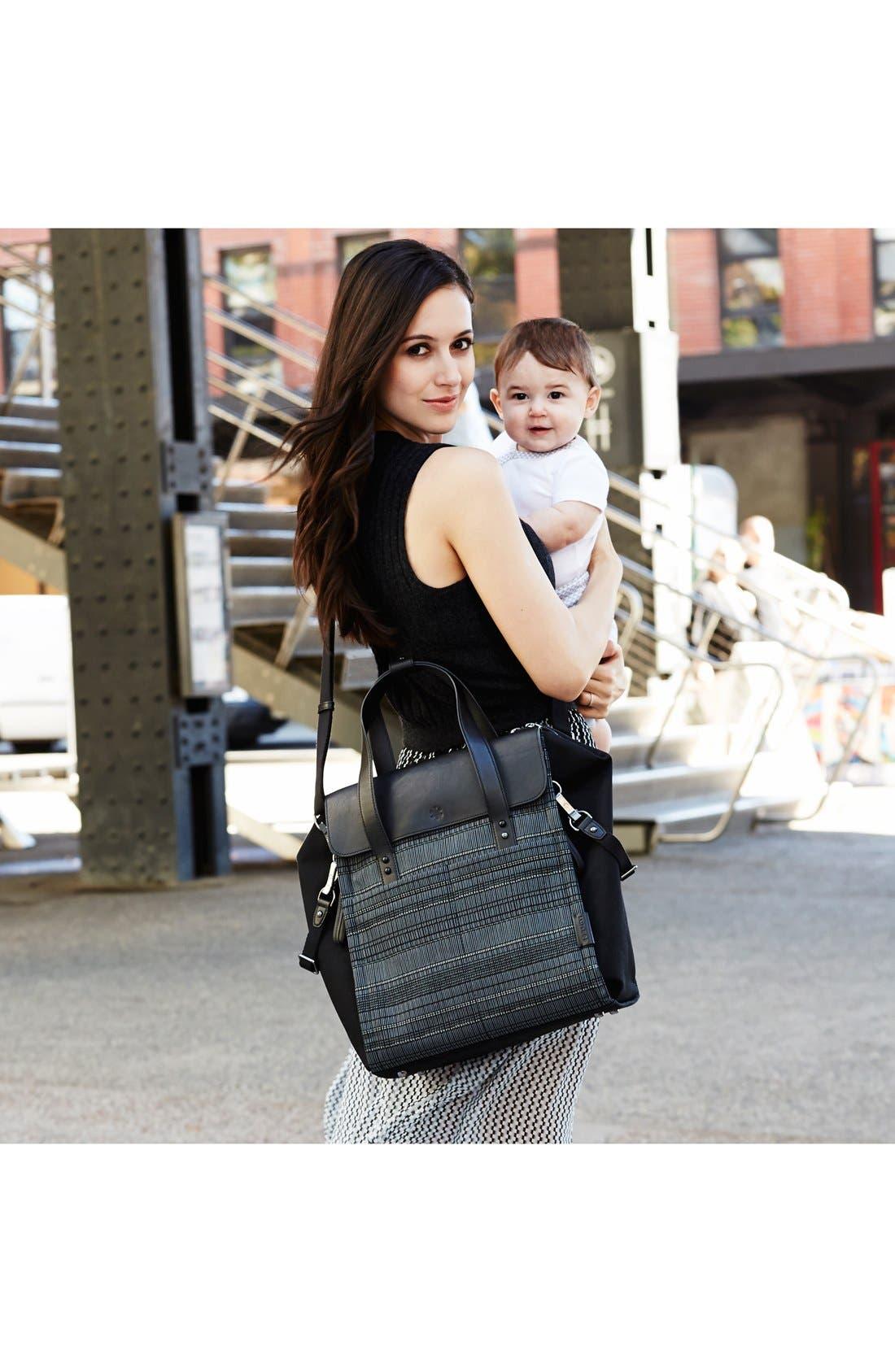 'Highline' Convertible Diaper Backpack,                             Alternate thumbnail 3, color,                             Black Granite
