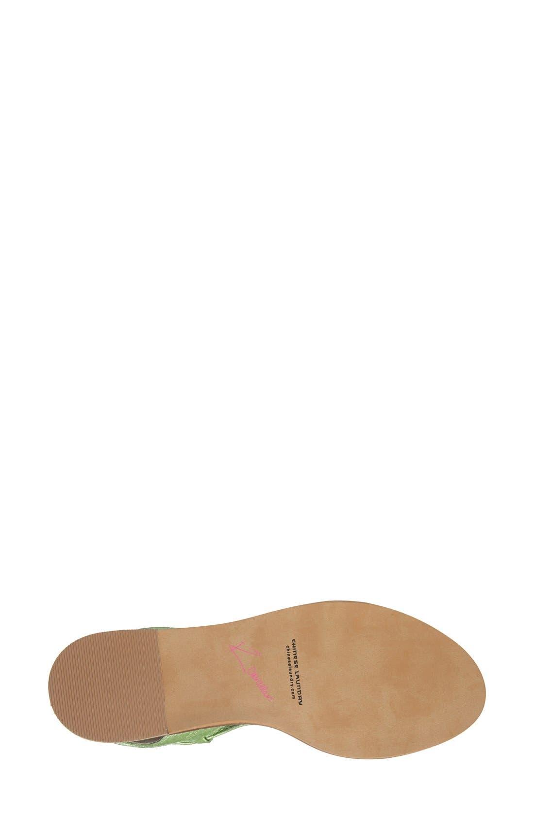 'Belle' Lace-Up Sandal,                             Alternate thumbnail 4, color,                             Mint Leather