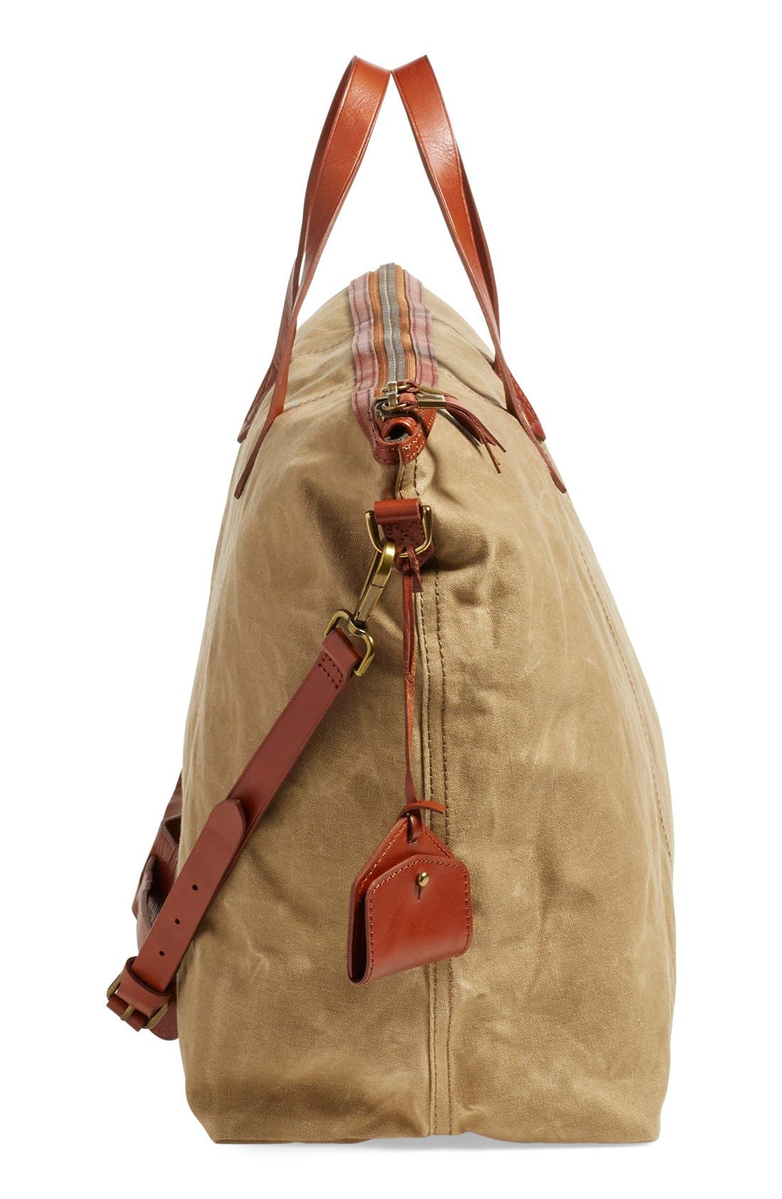 The Transport Canvas Weekend Bag,                             Alternate thumbnail 5, color,                             Truffle