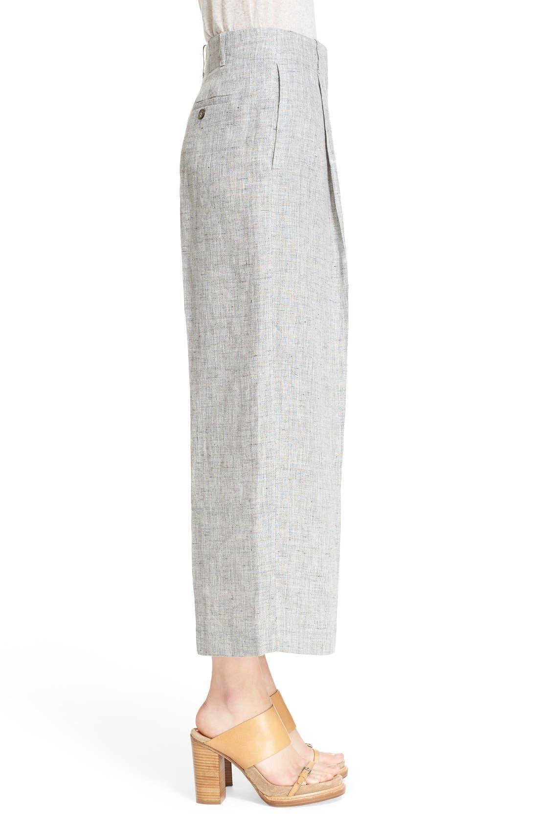 Alternate Image 5  - Michael Kors Pleated Crop Mélange Linen Pants