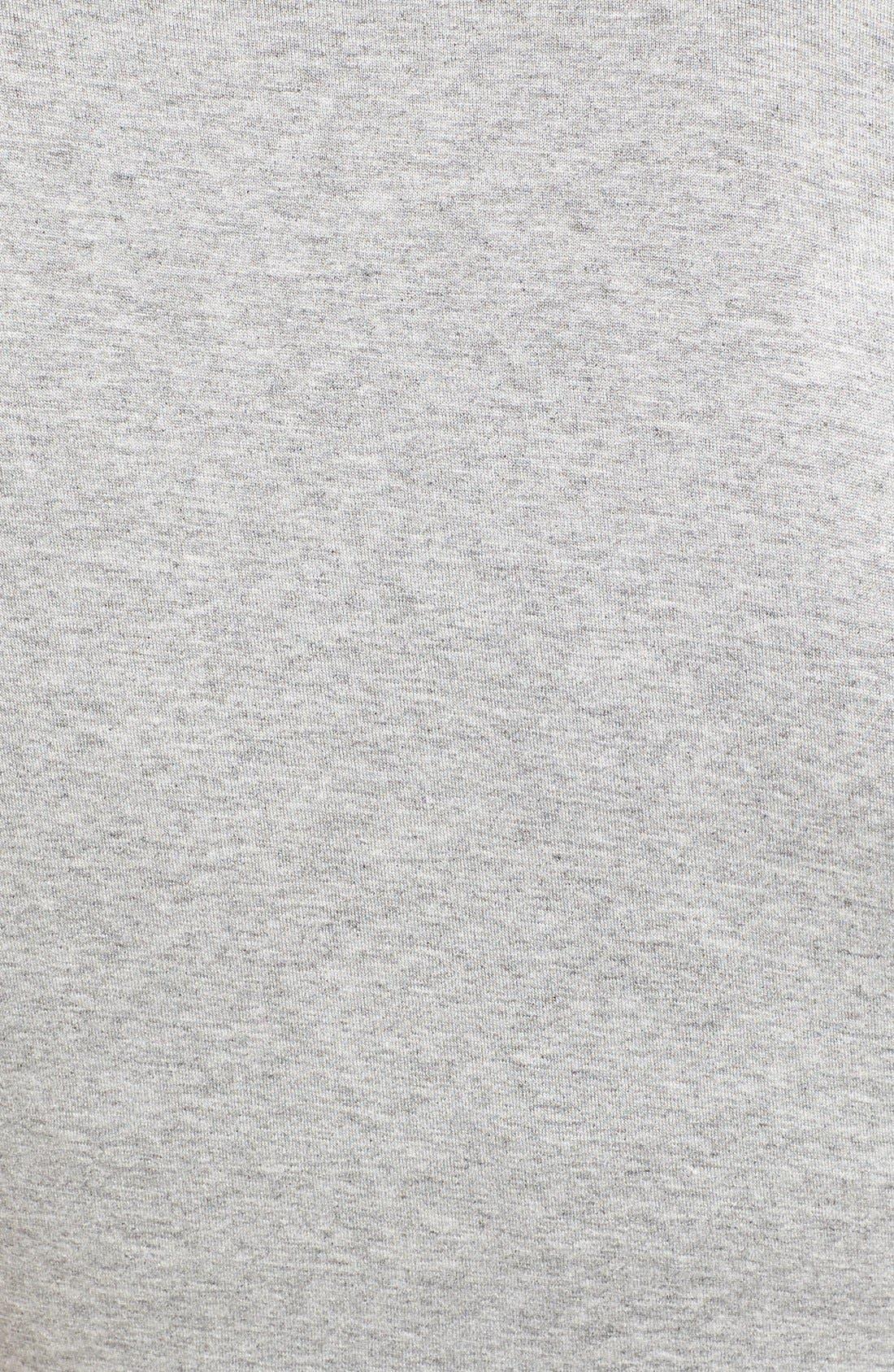 V-Neck Maxi Dress,                             Alternate thumbnail 5, color,                             Light Heather Grey