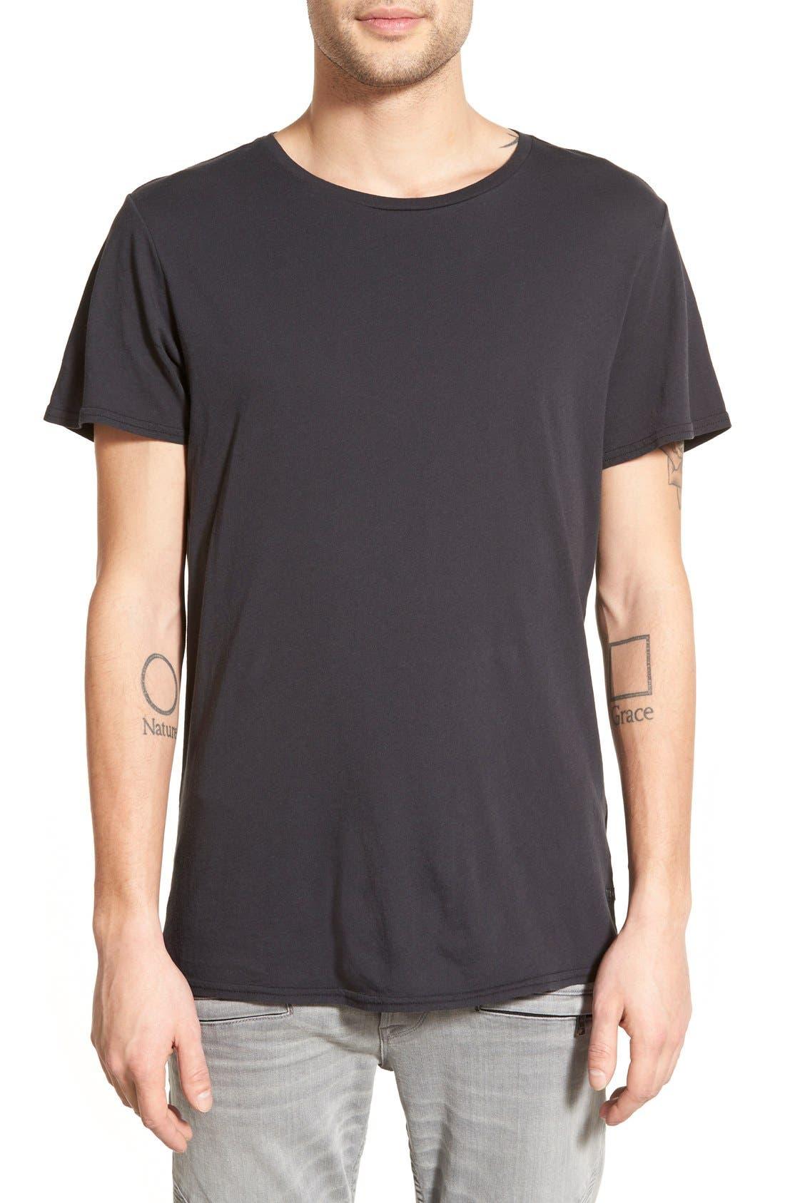 'Dirt' Crewneck T-Shirt,                         Main,                         color, Vintage Black