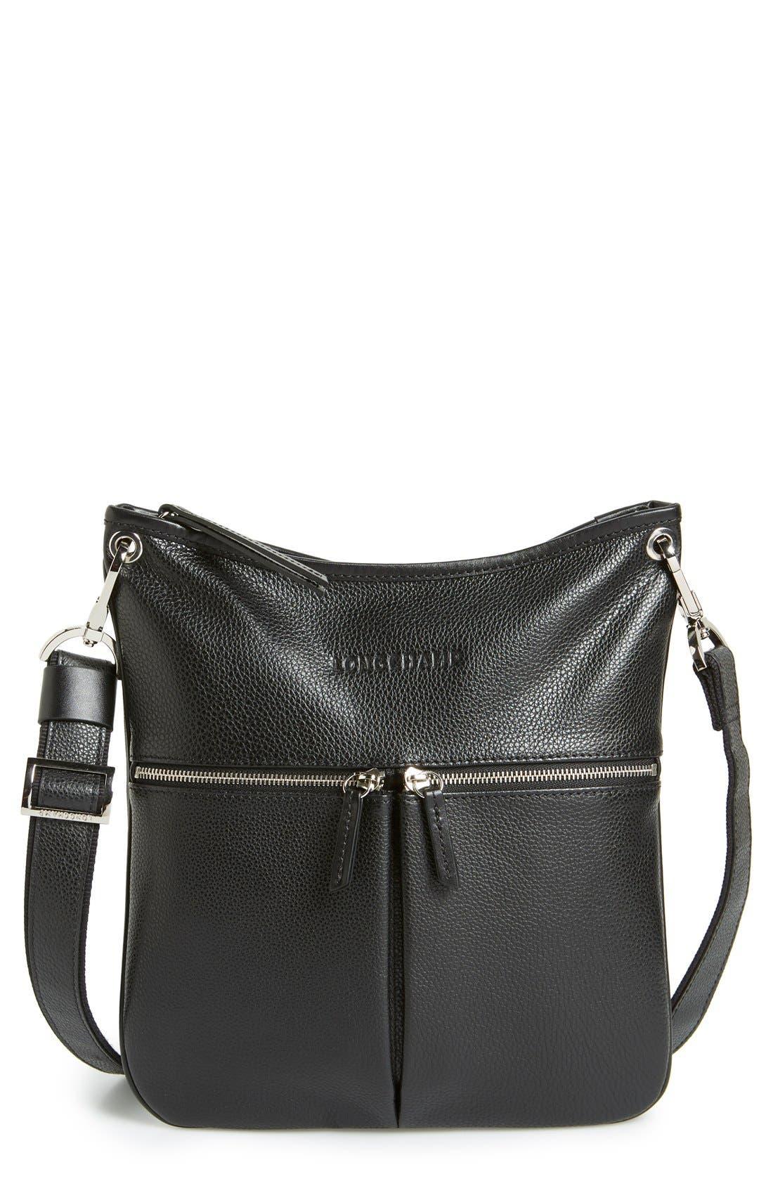 LONGCHAMP Veau Leather Crossbody Bag