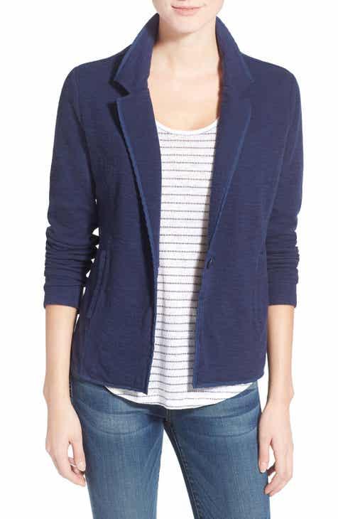 b25e3a6bb6 Caslon® One-Button Knit Blazer (Regular & Petite)
