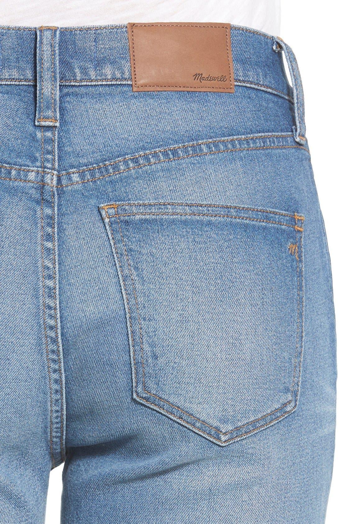'Flea Market' Flare Jeans,                             Alternate thumbnail 4, color,                             Maribel