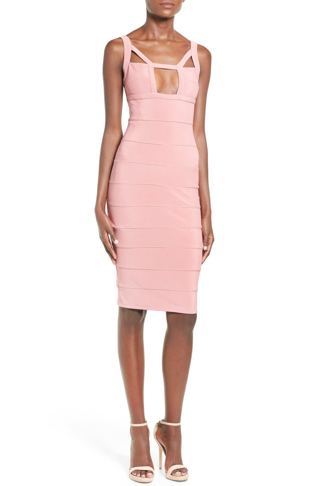 Alternate Image 1 Selected - Missguided Geo Cutout Bandage Dress