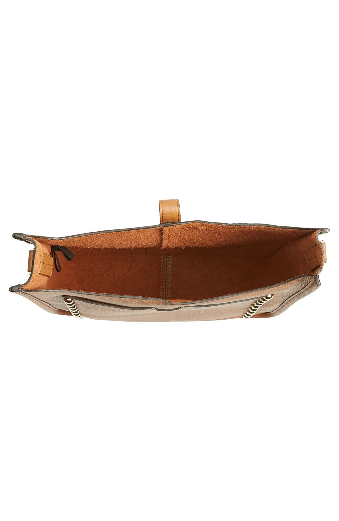 Unlined Feed Bag,                             Alternate thumbnail 4, color,                             Almond/ Light Gold Hrdwr