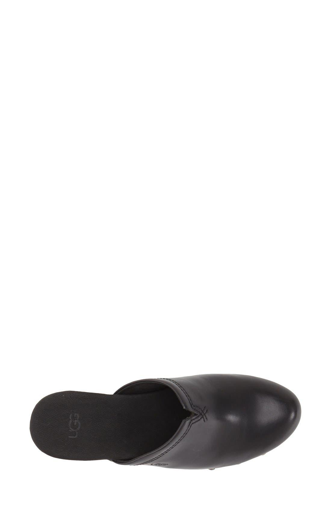 'Kay' Clog,                             Alternate thumbnail 3, color,                             Black Leather