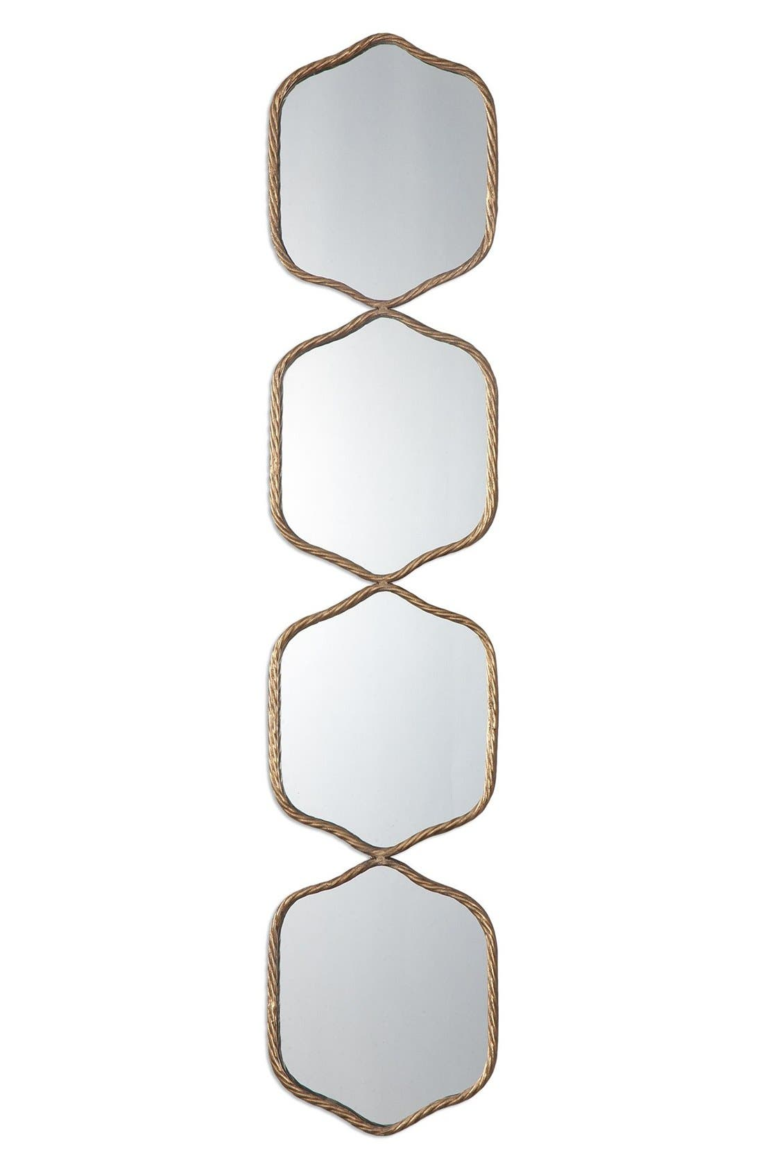 'Myriam' Wall Mirror,                         Main,                         color, Metallic Gold