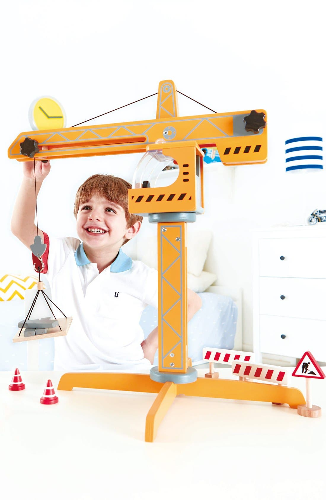 Alternate Image 4  - Hape Crane Lift Toy