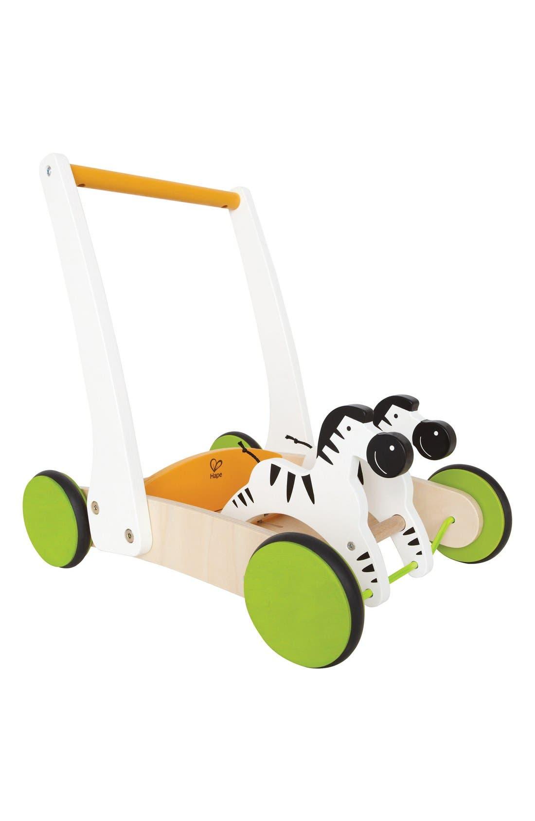 Hape 'Galloping Zebra' Push Toy