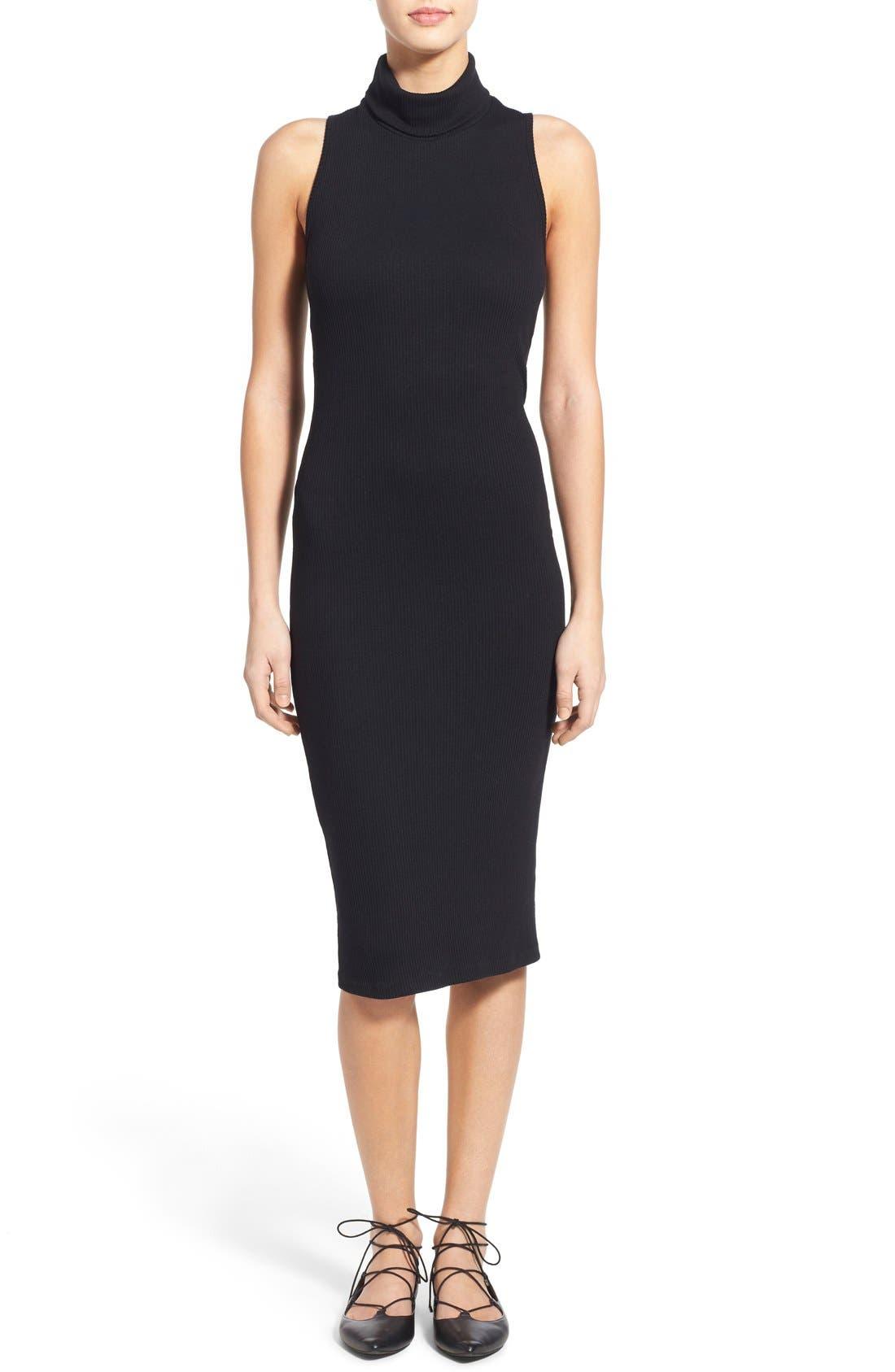 Sleeveless Turtleneck Dresses
