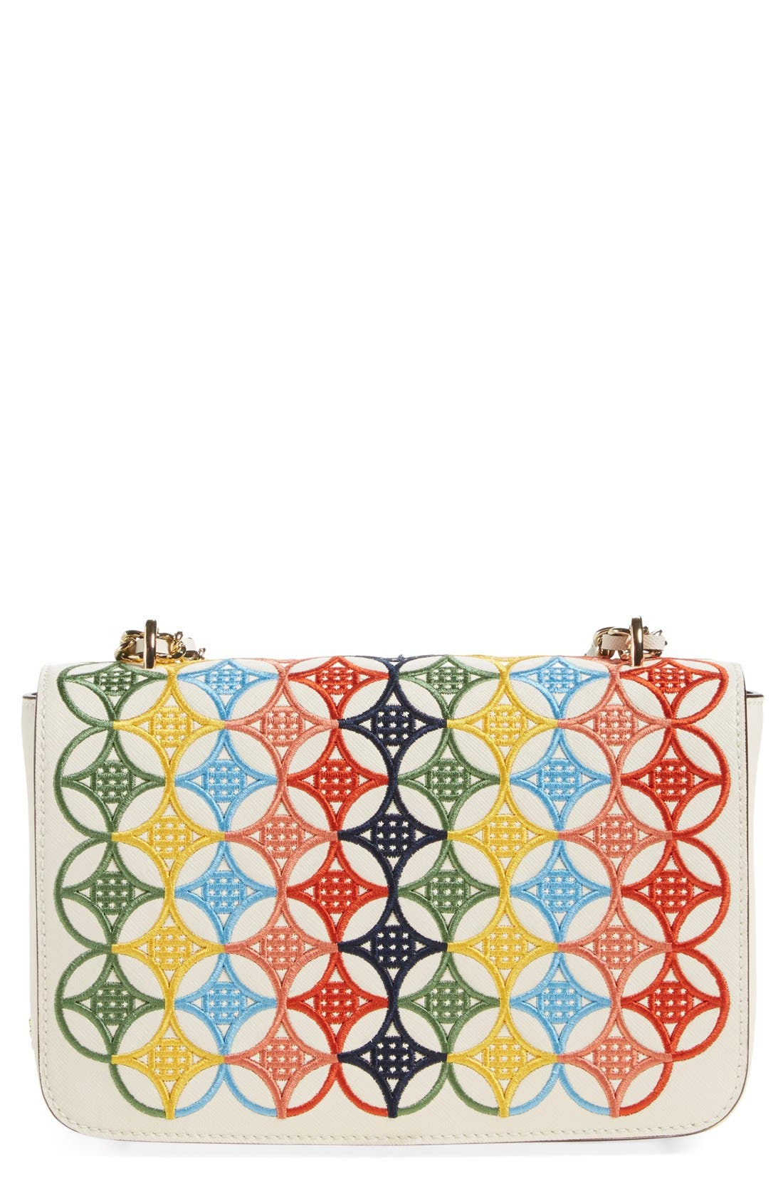 Main Image - Tory Burch 'Robinson' Embroidered Shoulder Bag