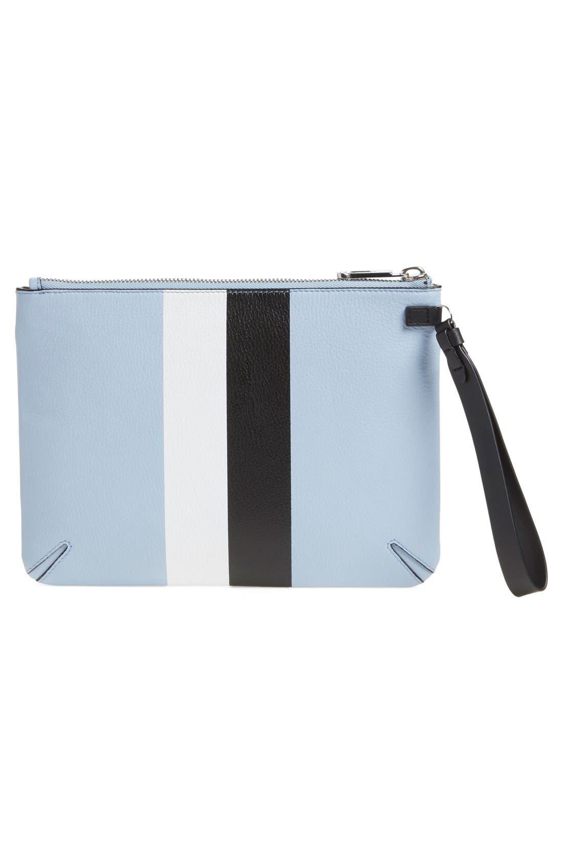 Alternate Image 2  - rag & bone Stripe Top Zip Leather Clutch