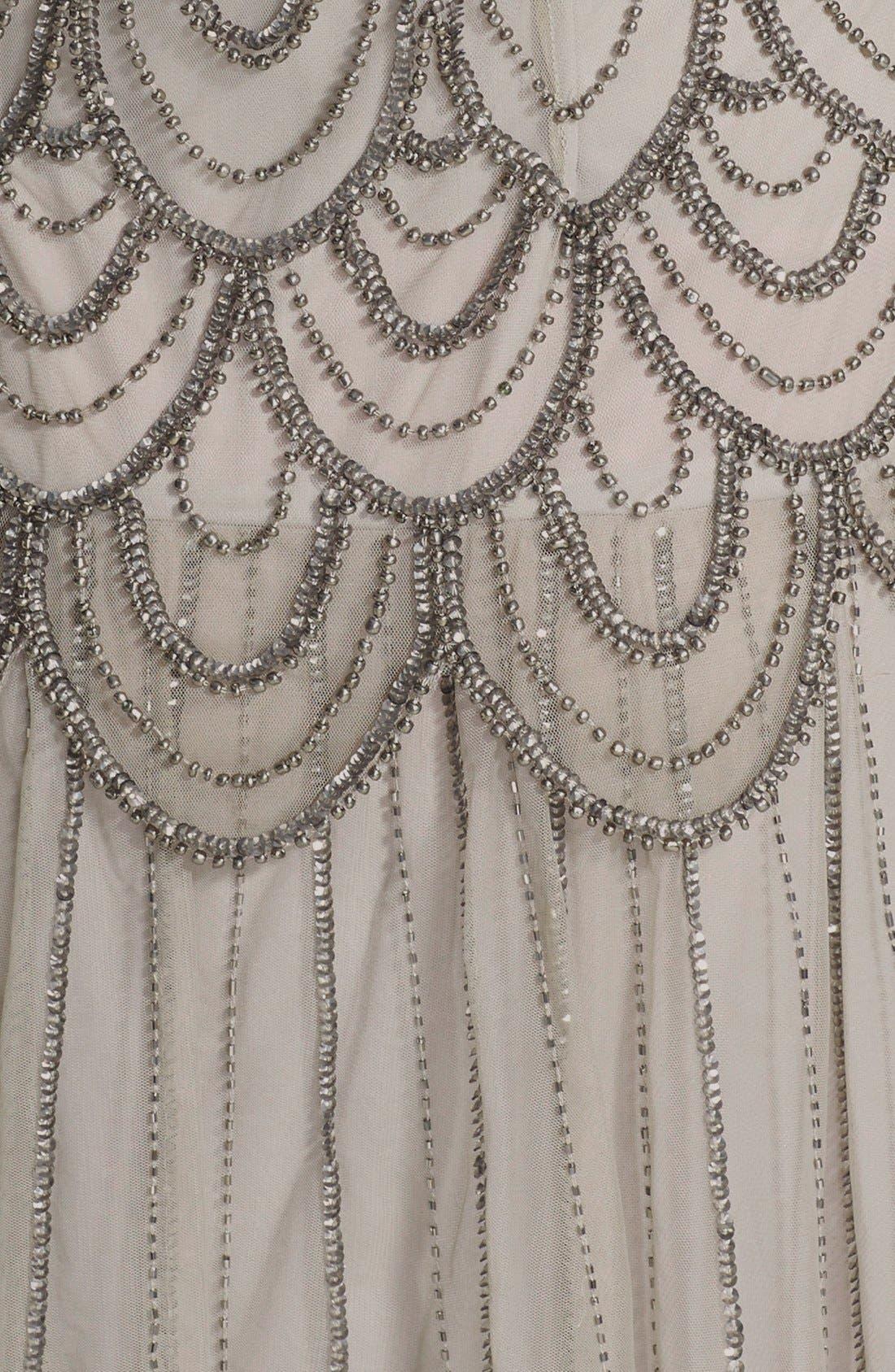 Alternate Image 3  - Pisarro Nights Beaded Mesh Gown (Regular & Petite)