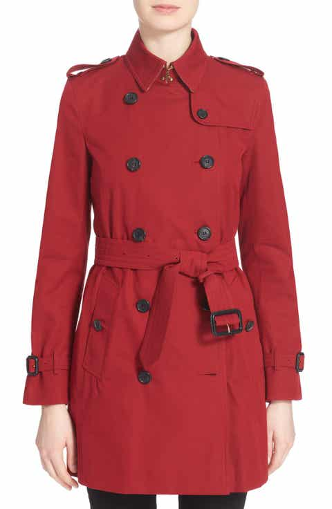 Burberry Kensington Mid Trench Coat - Red Trench Coats For Women Nordstrom Nordstrom