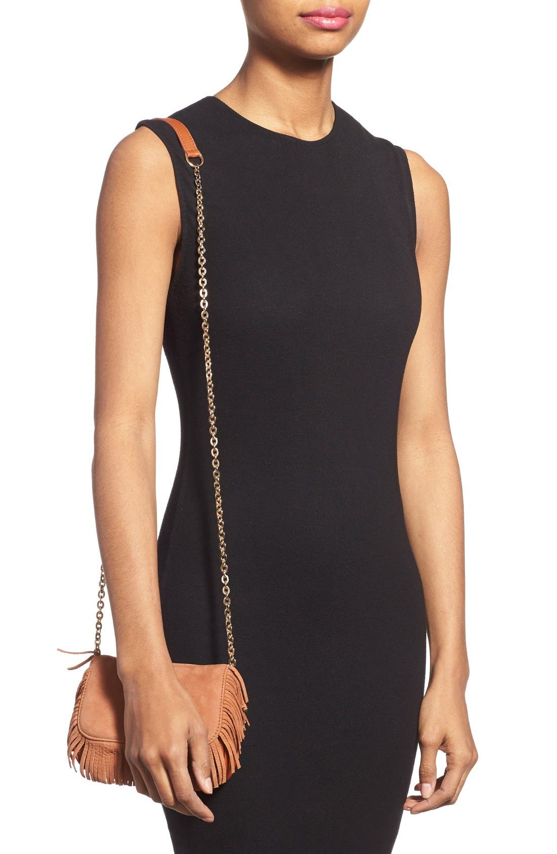 Alternate Image 2  - See by Chloé 'Medium Paige' Fringe Leather & Suede Clutch