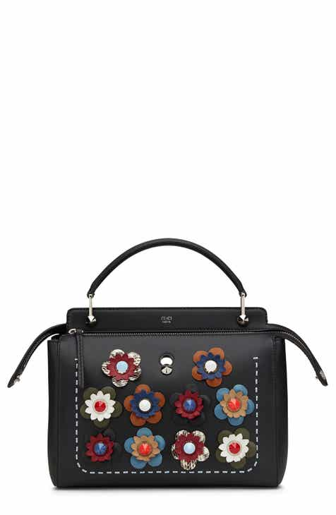 Fendi 'DOTCOM - Flowers' Leather Satchel