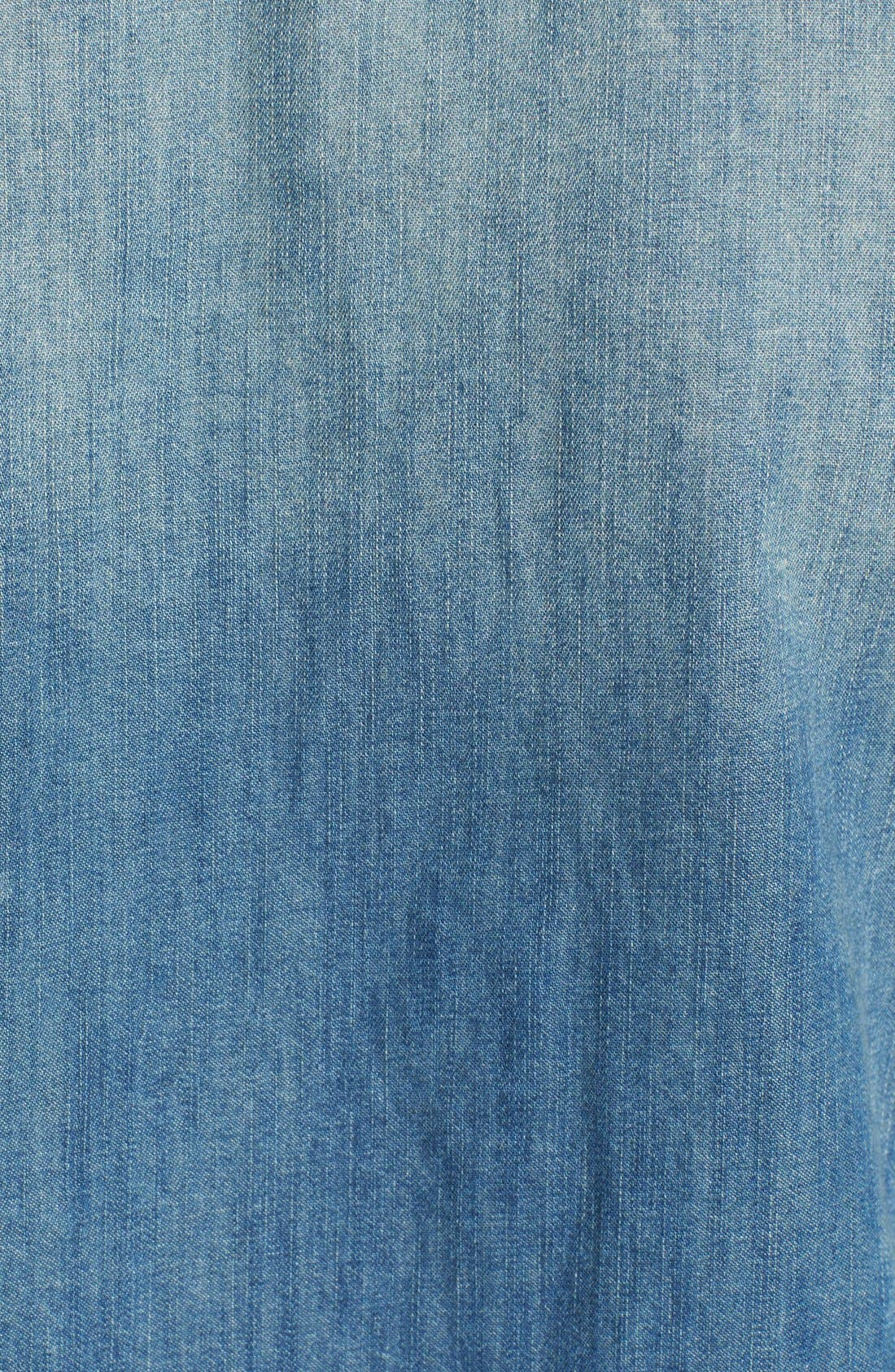 'The Perfect' Button Front Denim Shirt,                             Alternate thumbnail 5, color,                             Miner