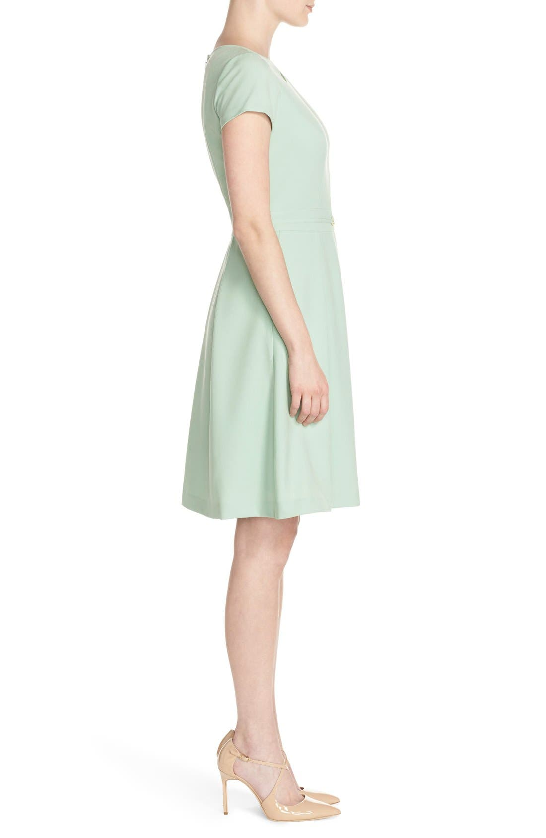 Alternate Image 3  - Ellen Tracy Cutout Neck Fit & Flare Dress (Regular & Petite)