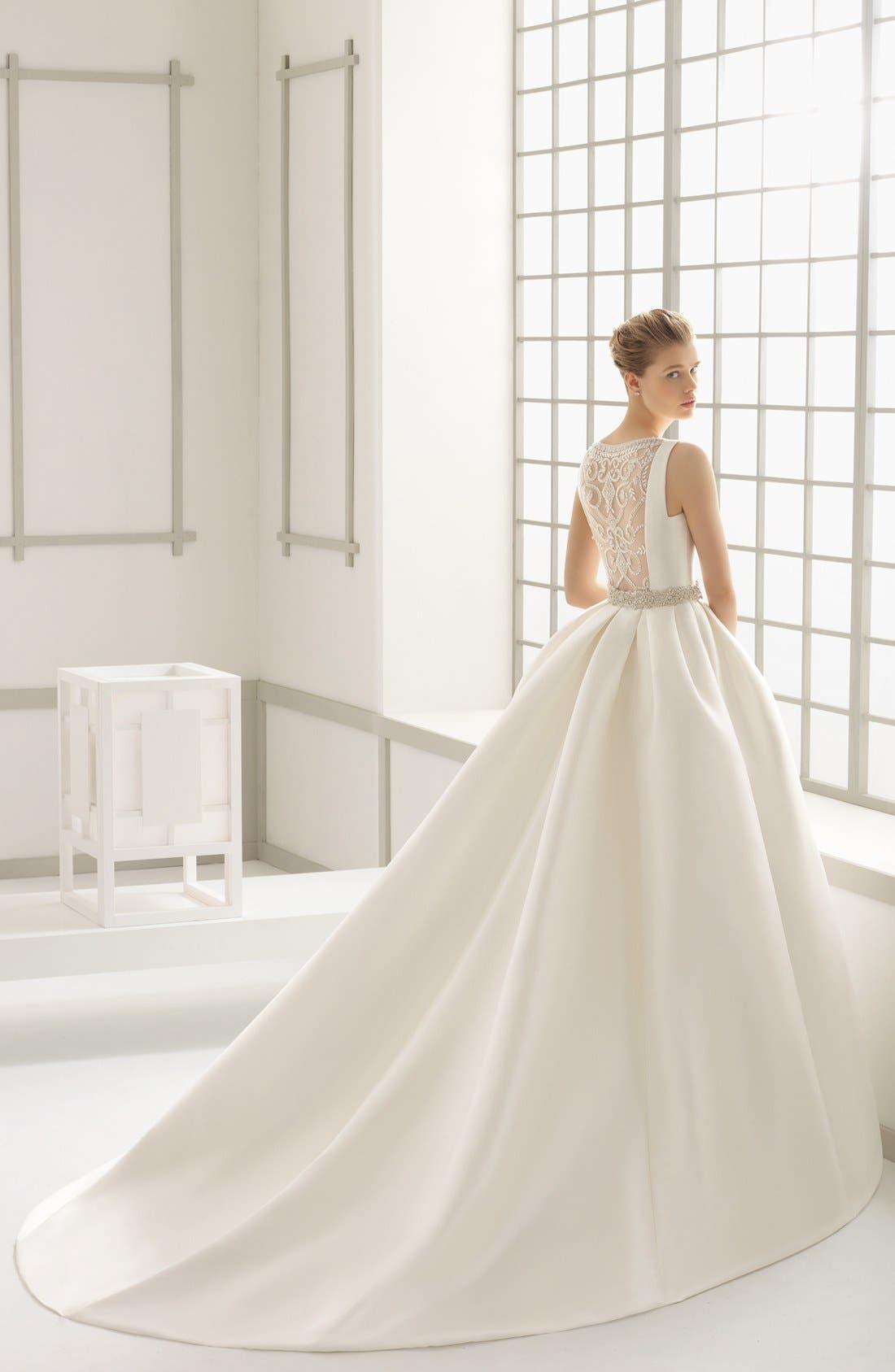 Alternate Image 2  - Rosa Clara Couture Delfos Beaded Back Ballgown Dress