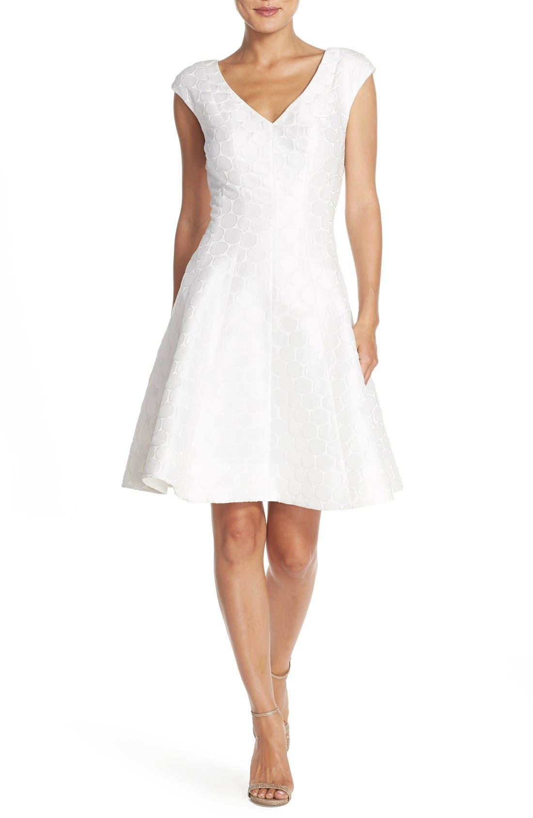 Main Image - Julia Jordan Jacquard Fit & Flare Dress
